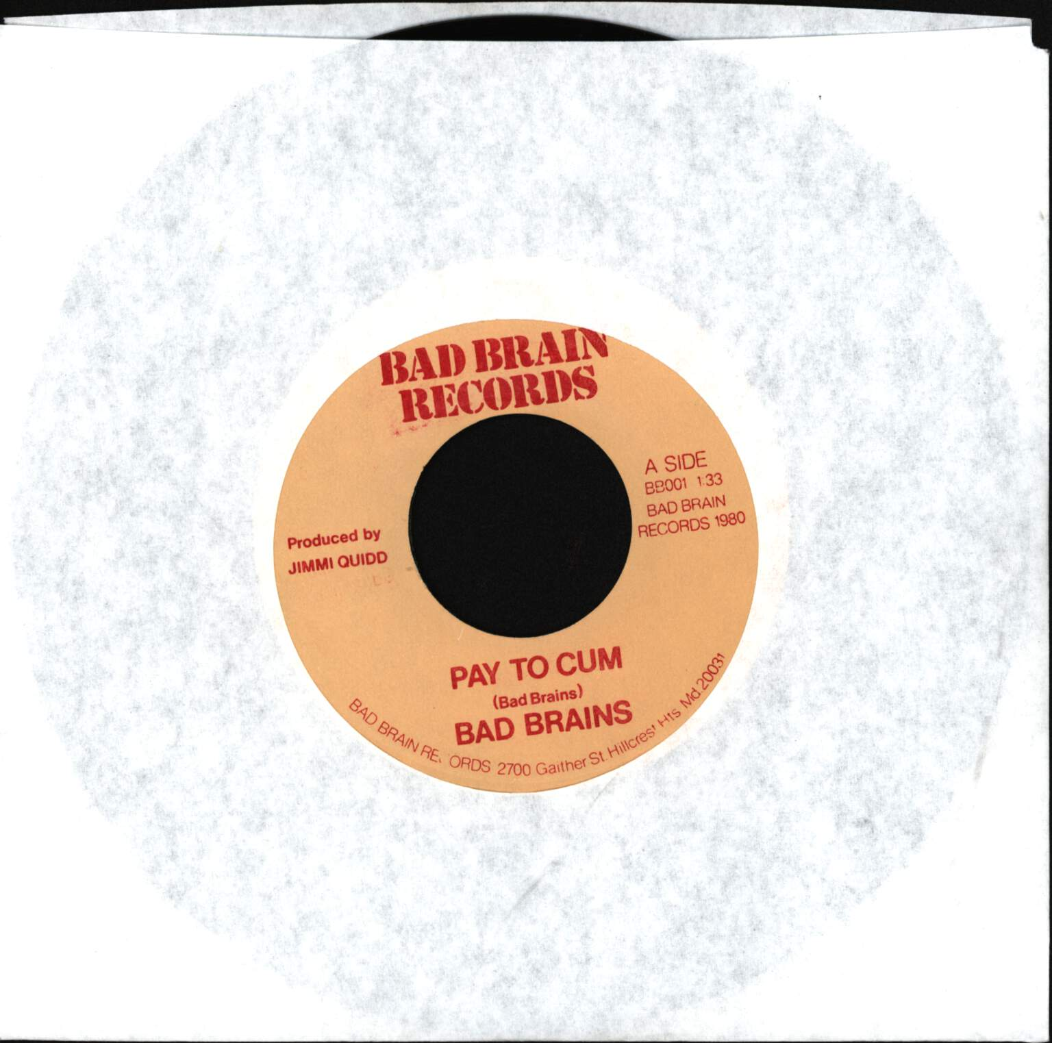 "Bad Brains: Pay To Cum, 7"" Single (Vinyl)"