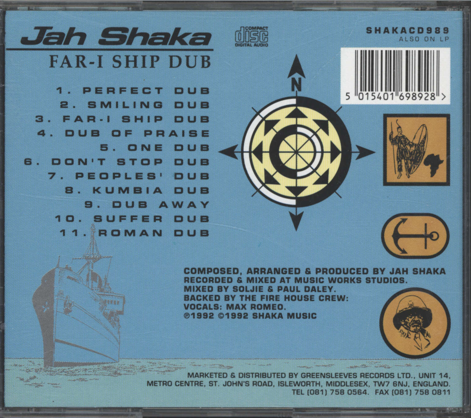 Jah Shaka: Far-I Ship Dub, CD