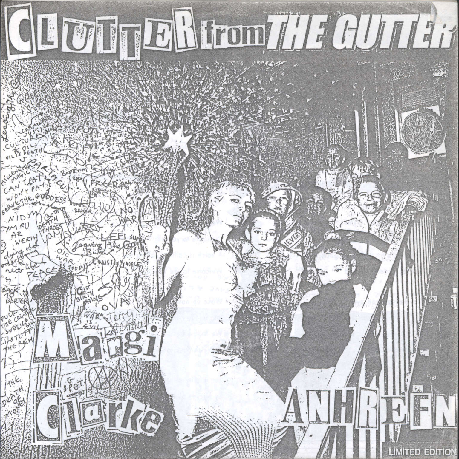 "Anhrefn with Margie Clarke: Clutter From The Gutter, 7"" Single (Vinyl)"