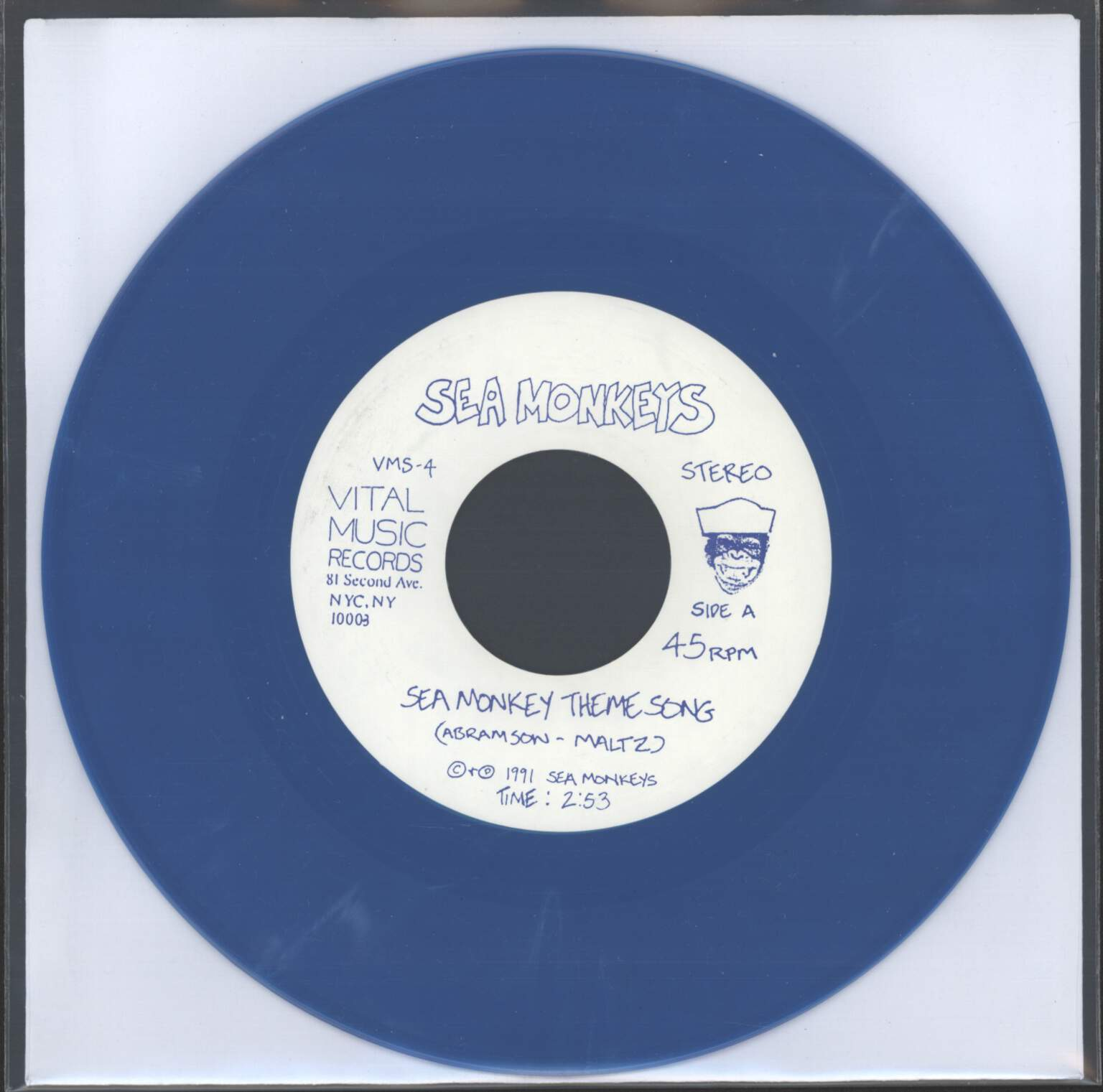 "Sea Monkeys: Sea Monkey Theme Song / Everything's Archie / Food Emporium, 7"" Single (Vinyl)"
