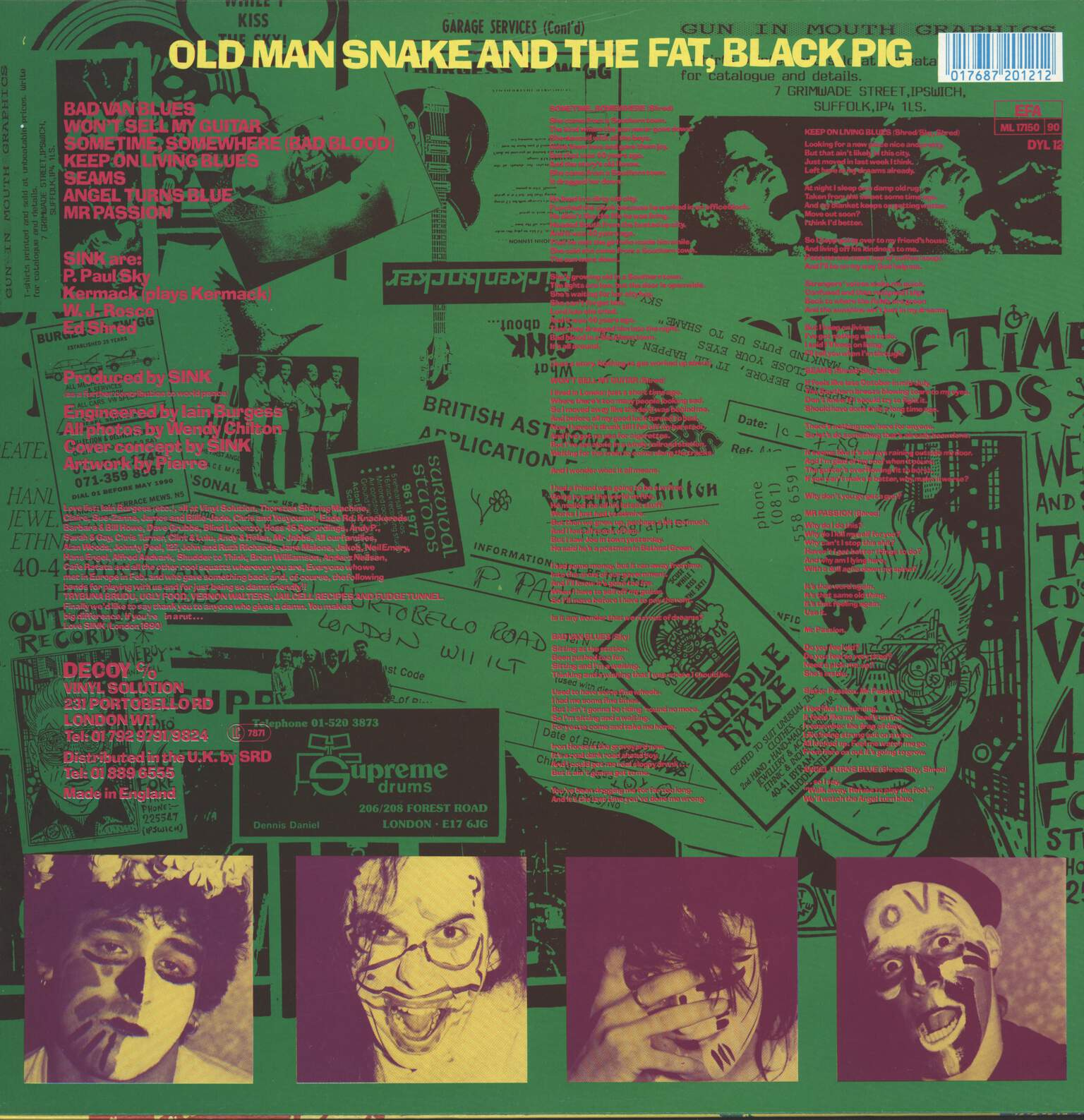 Sink: Old Man Snake And The Fat, Black Pig, LP (Vinyl)