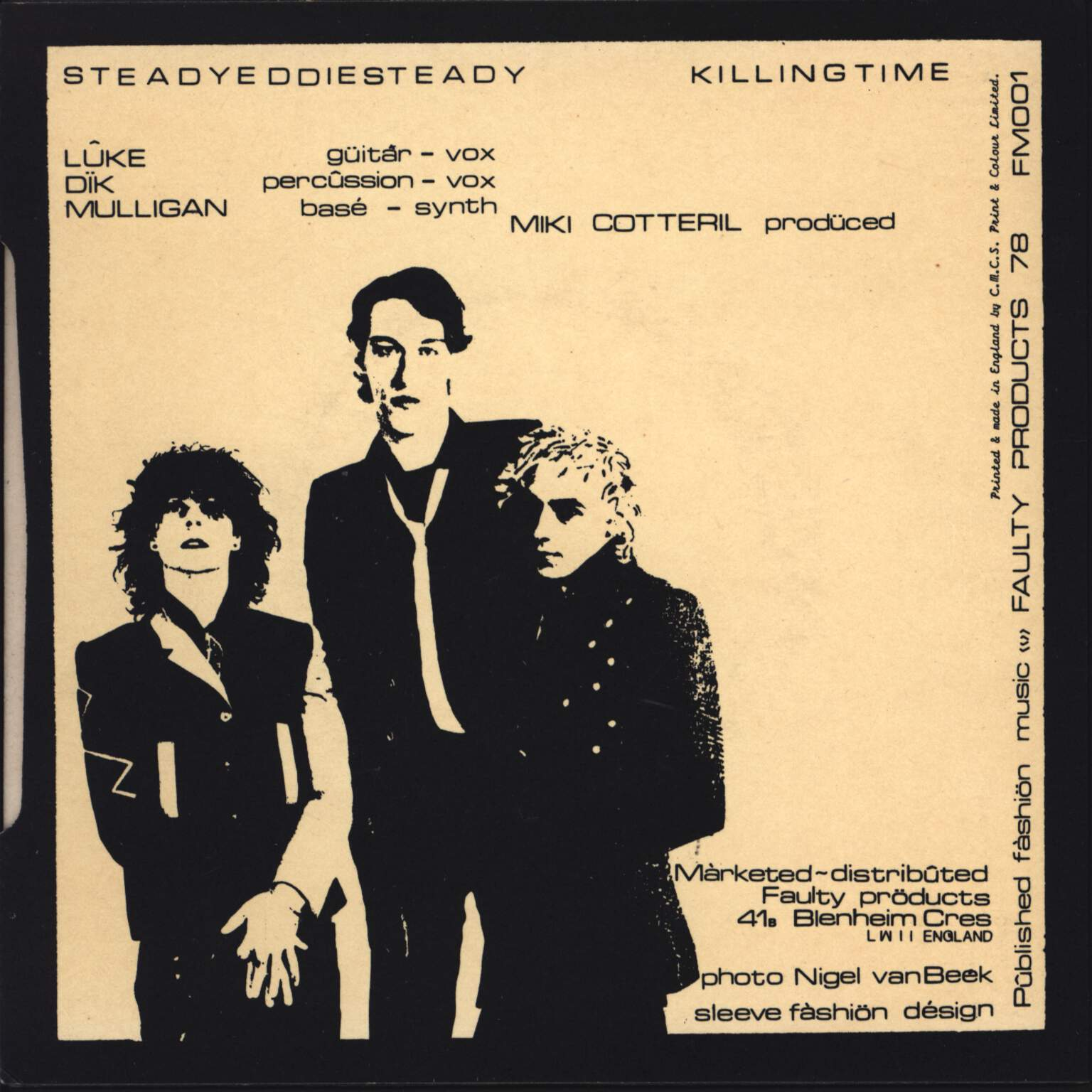 "Fashiön: Steady Eddie Steady / Killing Time, 7"" Single (Vinyl)"