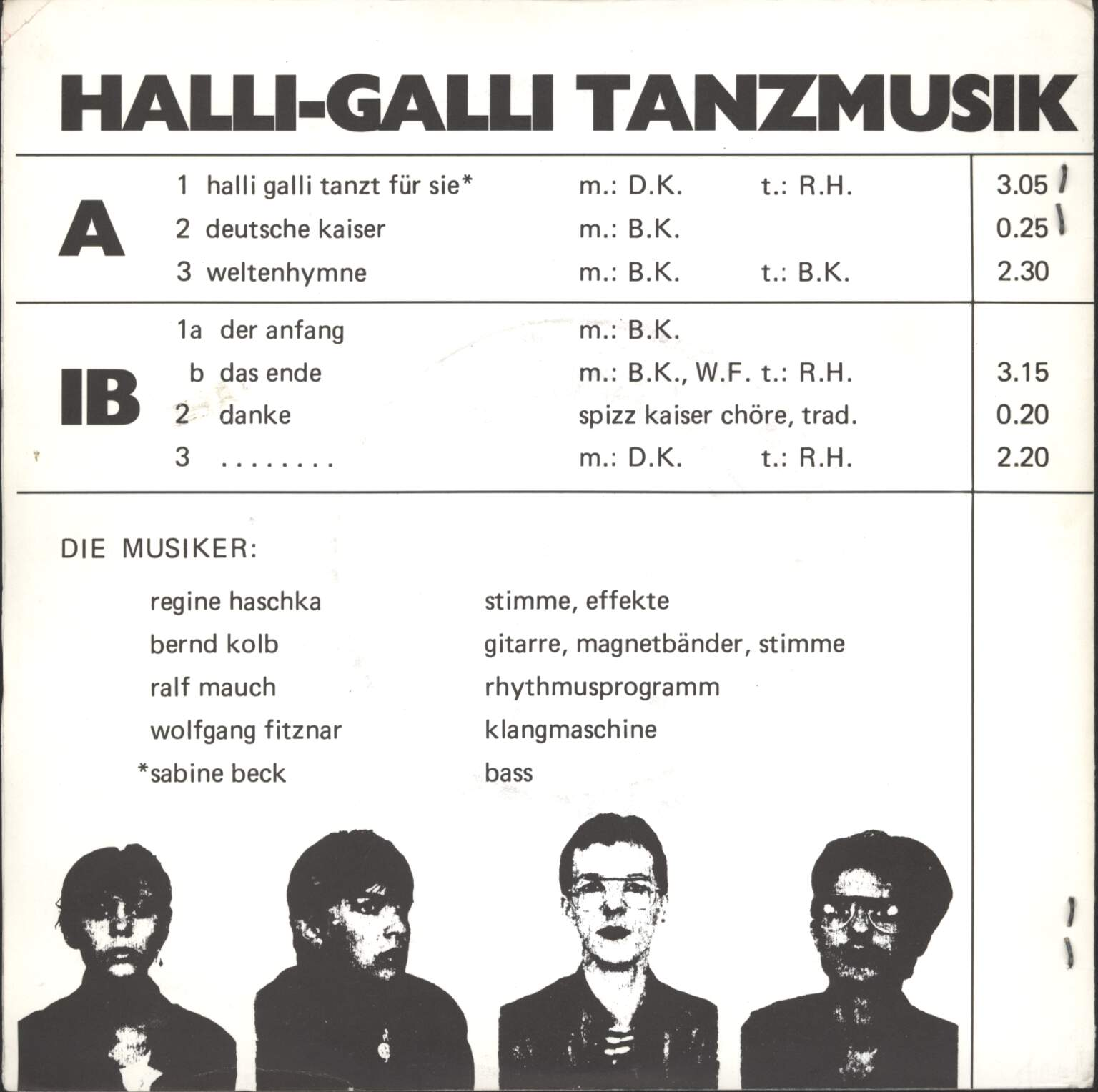 "Deutscher Kaiser: Halli-Galli Tanzmusik, 7"" Single (Vinyl)"