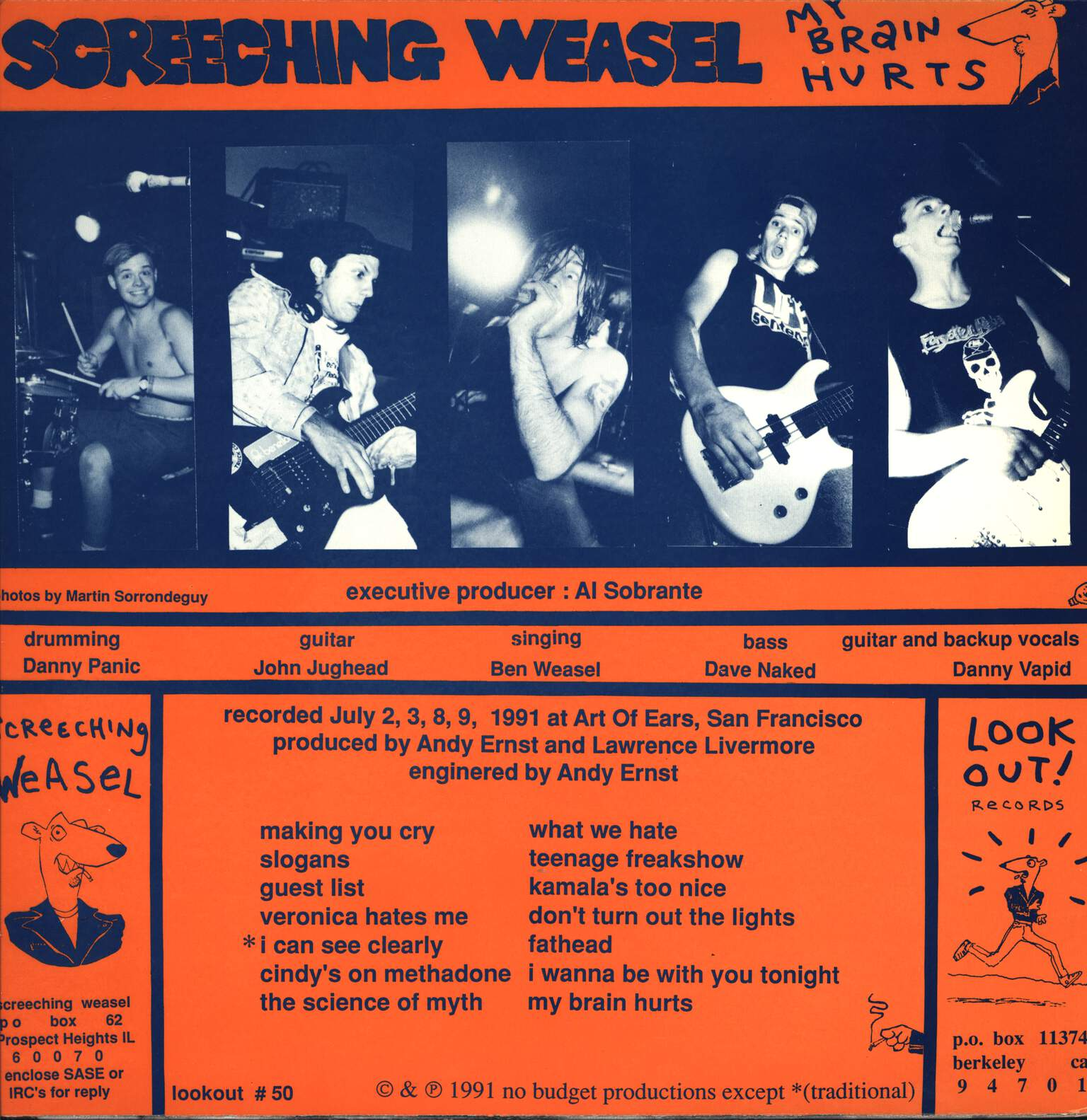 Screeching Weasel: My Brain Hurts, LP (Vinyl)