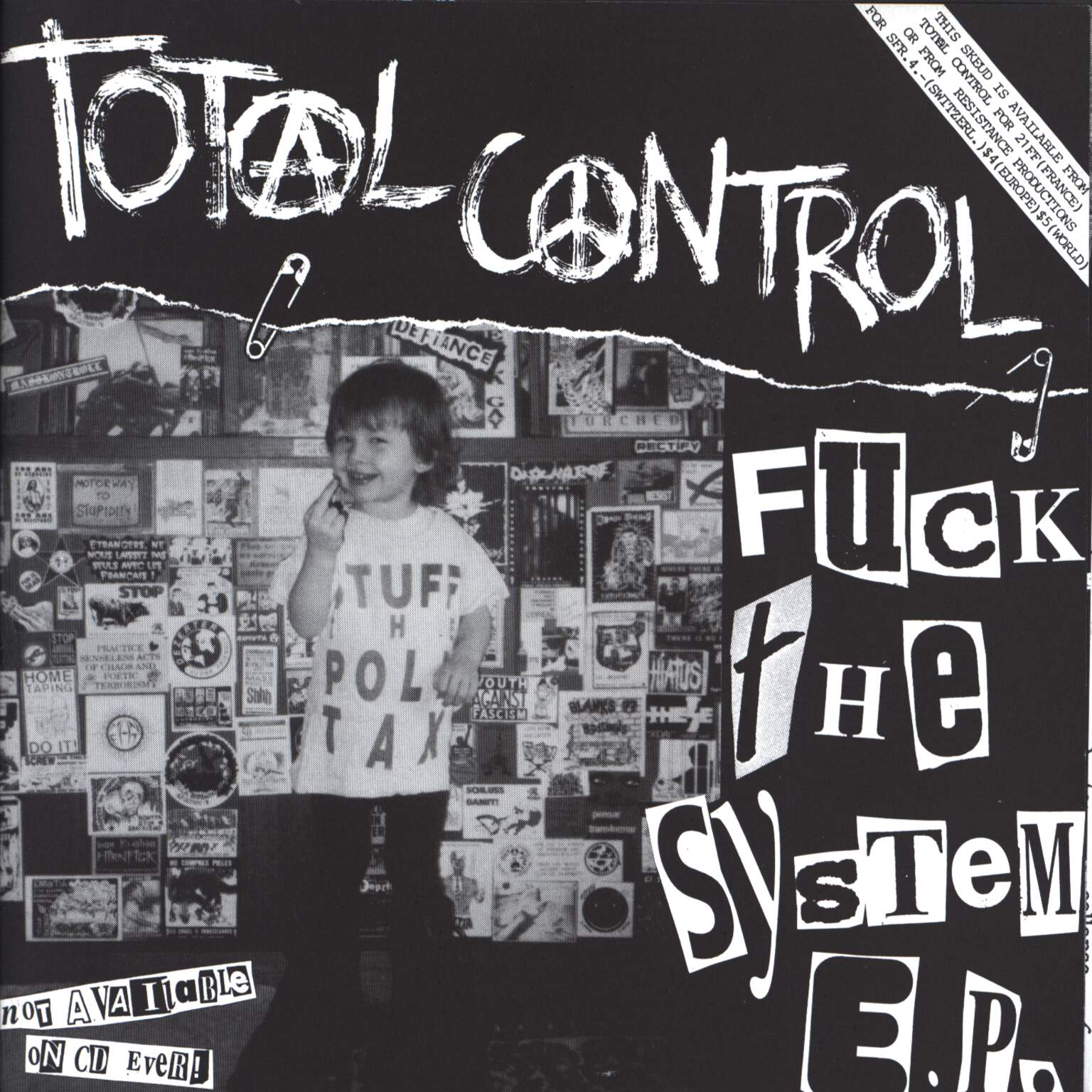 "Total Control: Fuck The System E.P., 7"" Single (Vinyl)"