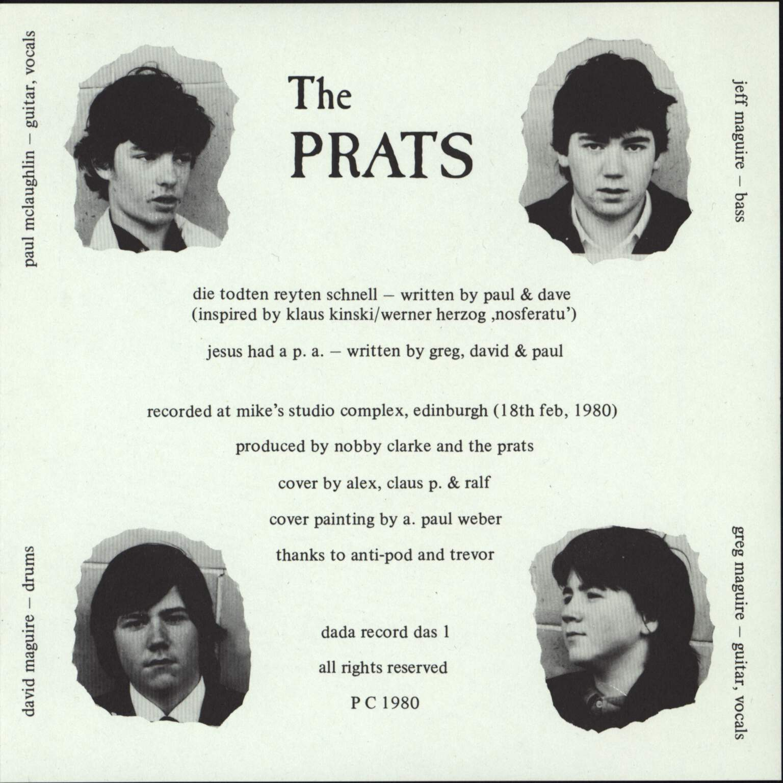 "The Prats: Die Todten Reyten Schnell, 7"" Single (Vinyl)"