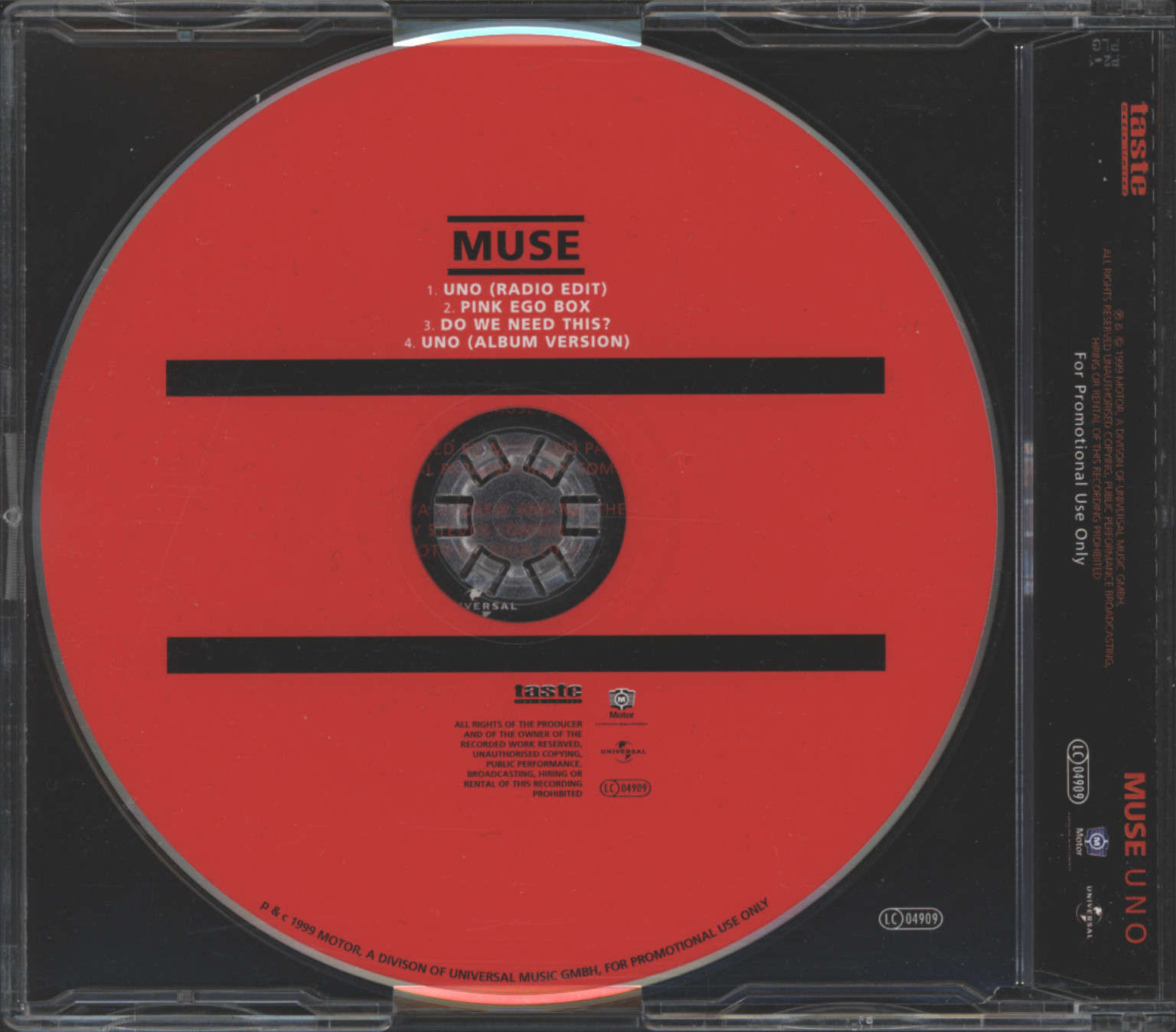 Muse: Uno, Mini CD