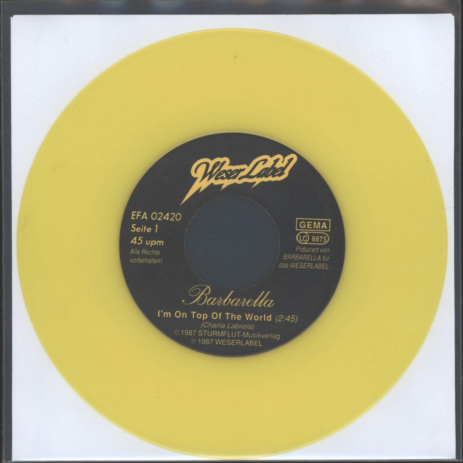"Barbarella: I'm On Top Of The World, 7"" Single (Vinyl)"