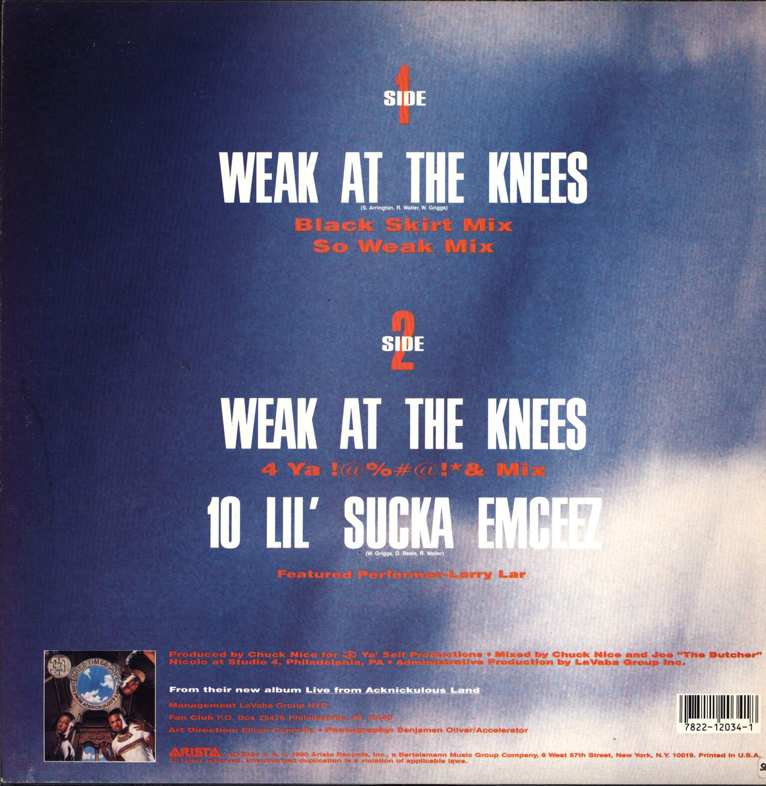 "Three Times Dope: Weak At The Knees, 12"" Maxi Single (Vinyl)"