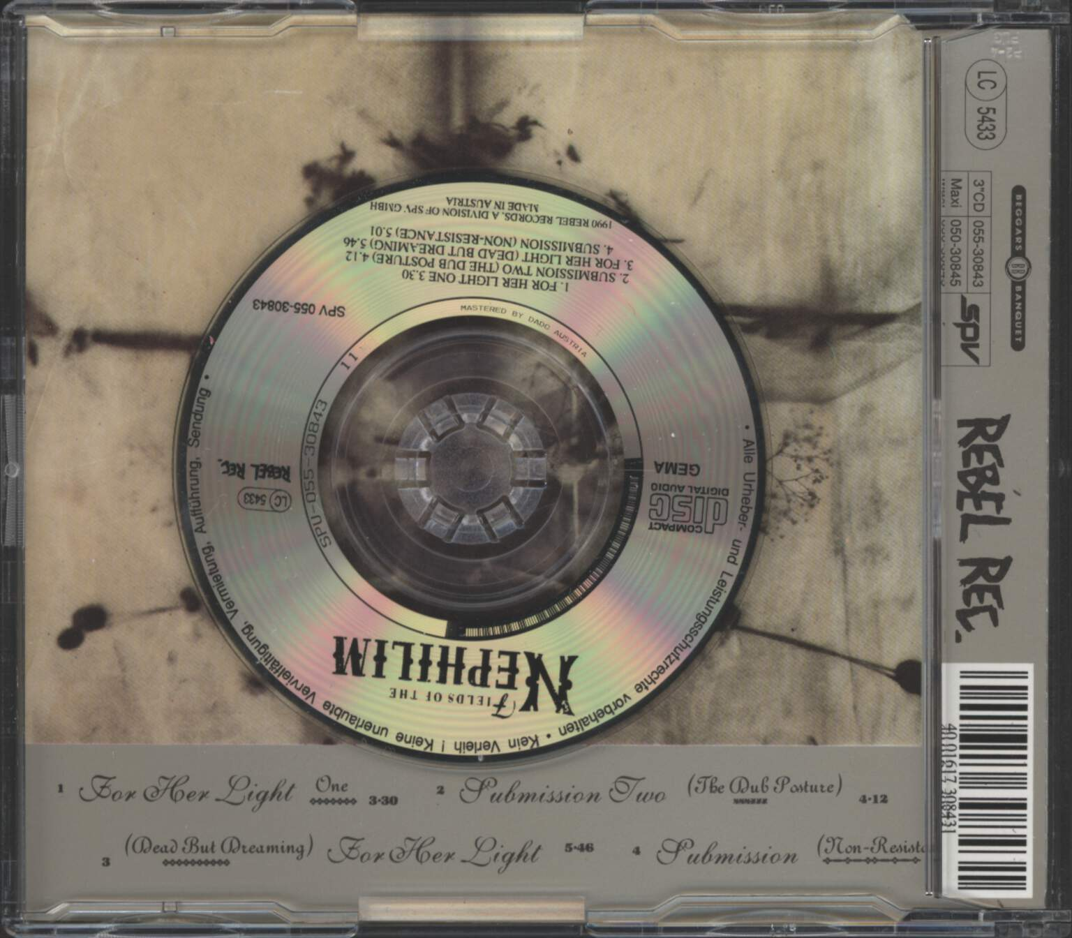 "Fields Of the Nephilim: For Her Light, 3"" CD"