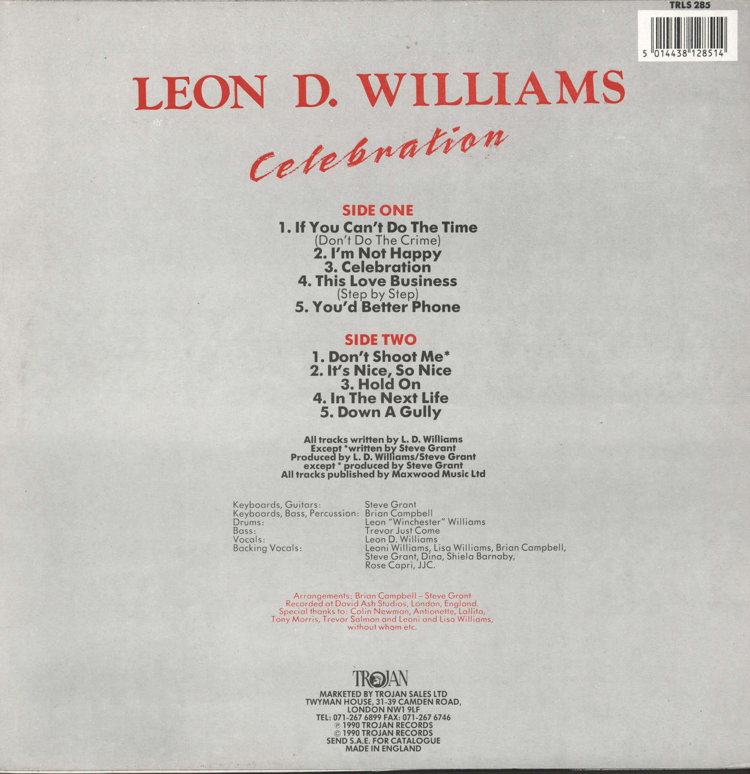 Williams, Leon D: Celebration, LP (Vinyl)