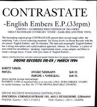 Contrastate: English Embers