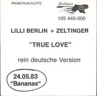 Lilli Berlin/Jürgen Zeltinger: True Love - rein deutsche Version