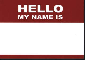 Sticker: Hello My Name Is (50 Stück)