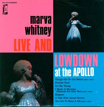 Marva Whitney: Live & Lowdown At The Apollo