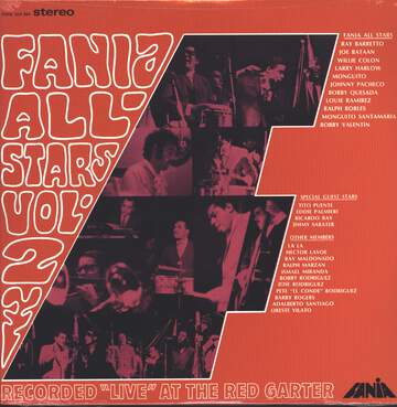 "Fania all Stars: Vol. 2 Recorded ""Live"" At The Red Garter"