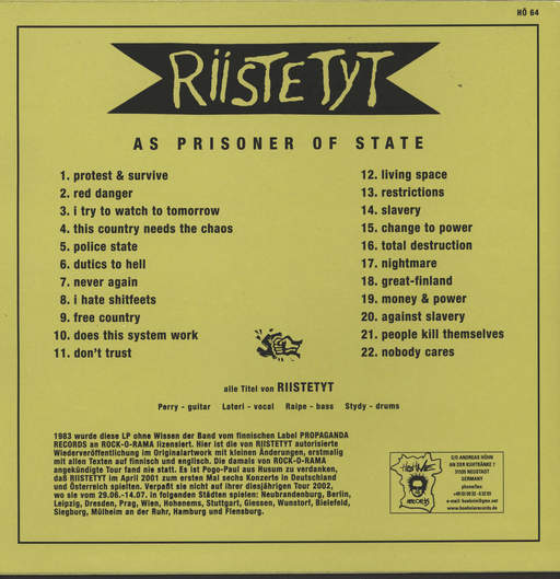 Riistetyt As A Prisoner Of State