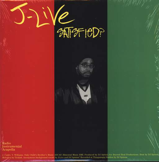 "J-Live: Satisfied? / A Charmed Life, 12"" Maxi Single (Vinyl)"