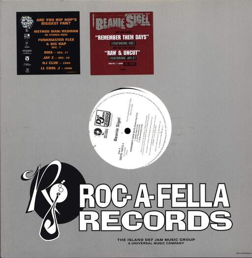 "Beanie Sigel: Remember Them Days / Raw & Uncut, 12"" Maxi Single (Vinyl)"