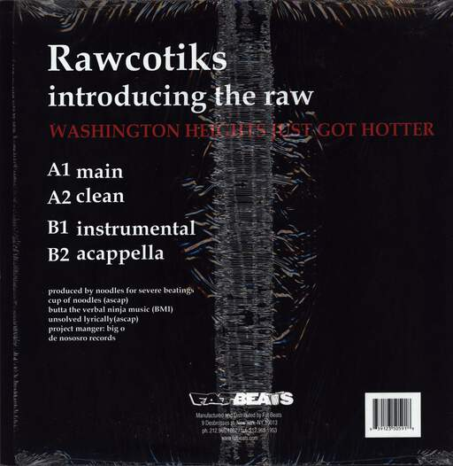 "Rawcotiks: Introducing The Raw, 12"" Maxi Single (Vinyl)"