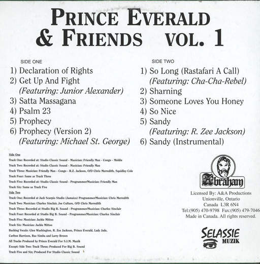 Prince Everald: Prince Everald & Friends Vol 1, LP (Vinyl)