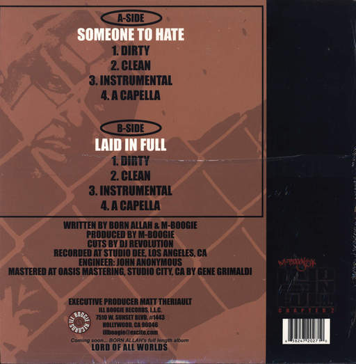 "Born Allah: Someone To Hate / Laid In Full, 12"" Maxi Single (Vinyl)"