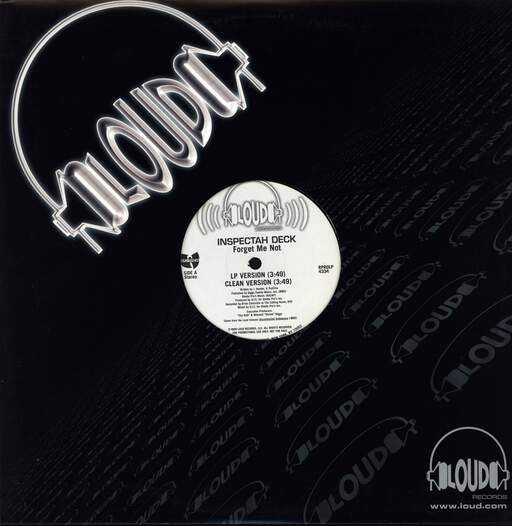"Inspectah Deck: Forget Me Not, 12"" Maxi Single (Vinyl)"