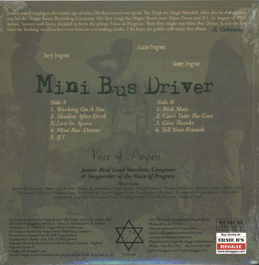 Voice Of Progress: Mini Bus Driver, LP (Vinyl)