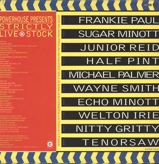 Various: Powerhouse Presents: Strictly Live Stock, LP (Vinyl)