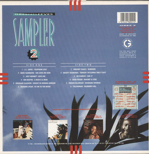 Various: Greensleeves Sampler 2, LP (Vinyl)