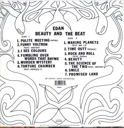 Edan: Beauty And The Beat, LP (Vinyl)