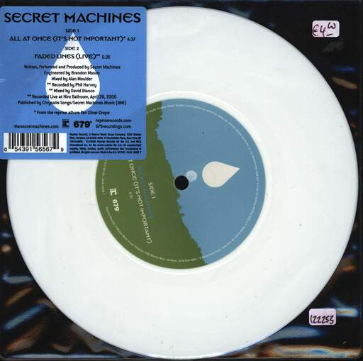 "Secret Machines: All At Once (It's Not Important), 7"" Single (Vinyl)"