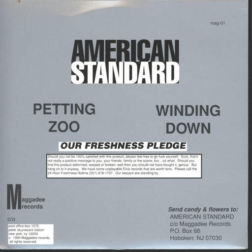 "American Standard: Trial Size, 7"" Single (Vinyl)"