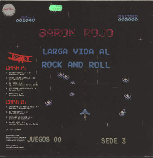 Baron Rojo: Larga Vida Al Rock And Roll, LP (Vinyl)