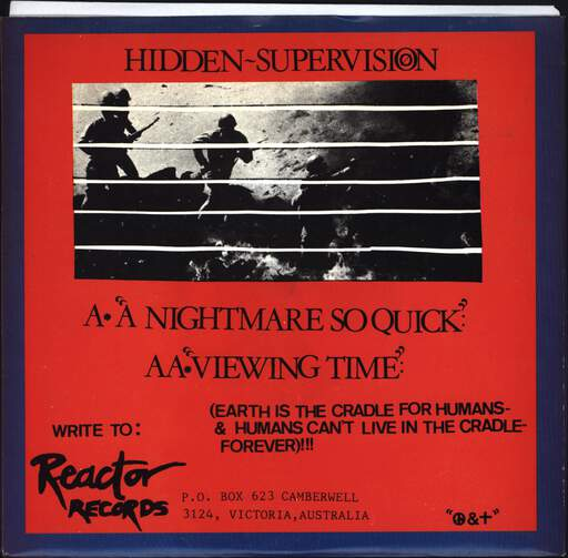 "Vicious Circle: Hidden Supervision, 7"" Single (Vinyl)"