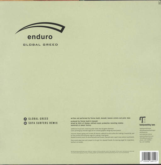 "Enduro: Global Greed, 12"" Maxi Single (Vinyl)"