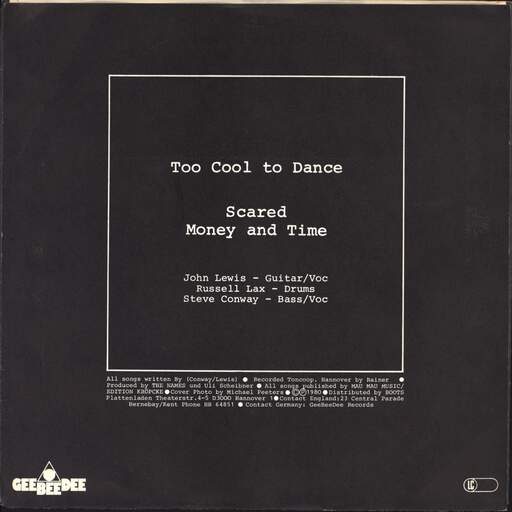 "The Names: Too Cool To Dance, 7"" Single (Vinyl)"
