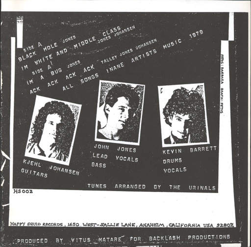 "Urinals: Another E.P, 7"" Single (Vinyl)"