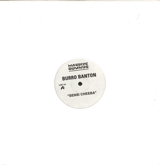 "Burro Banton: Sensi Cheeba / West Morland Sensi, 12"" Maxi Single (Vinyl)"