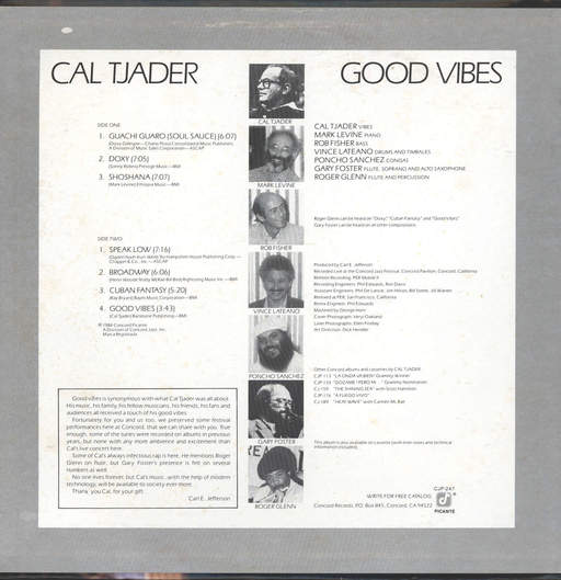 Tjader, Cal: Good Vibes, LP (Vinyl)