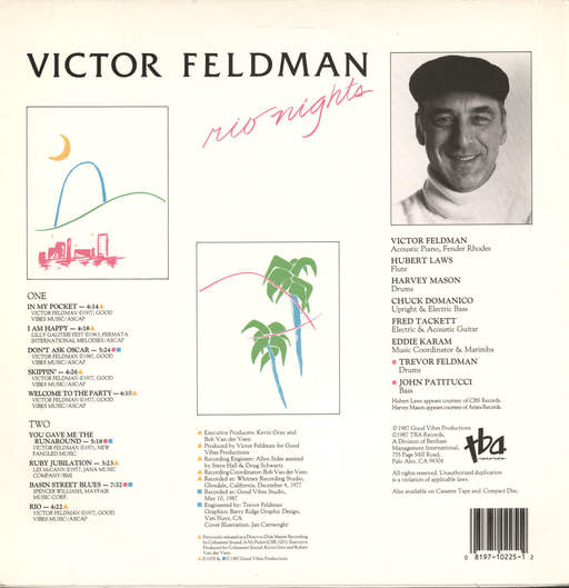Victor Feldman: Rio Nights, LP (Vinyl)