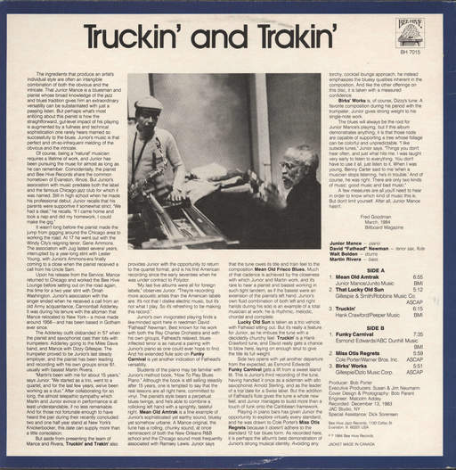 Mance, Junior: Truckin' And Trakin', LP (Vinyl)