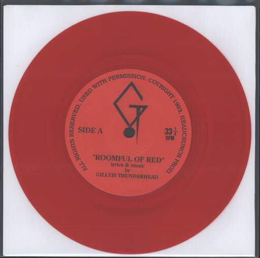 "Gillyis Thunderhead: Roomful Of Red / Mind Of The Amoeba (M.O.T.A.), 7"" Single (Vinyl)"