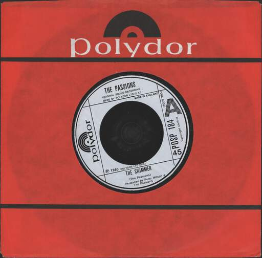 "Passions: The Swimmer, 7"" Single (Vinyl)"