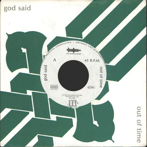 "God Said: Out Of Time, 7"" Single (Vinyl)"