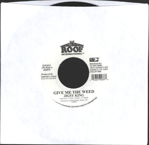 "Jigsy King: Gimme The Weed, 7"" Single (Vinyl)"