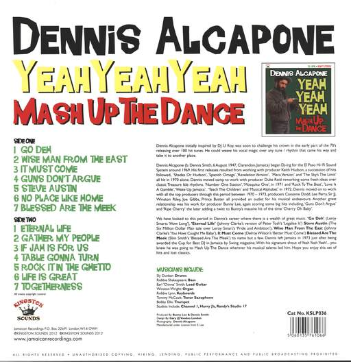 Dennis Alcapone: Yeah Yeah Yeah Mash Up The Dance, LP (Vinyl)