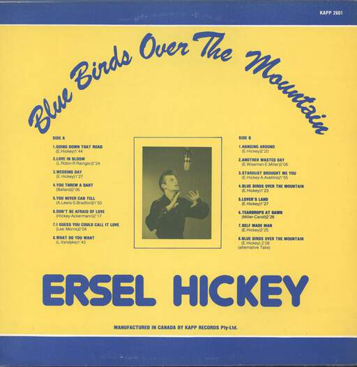 Ersel Hickey: Bluebirds Over The Mountain, LP (Vinyl)
