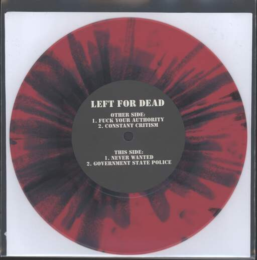 "Left For Dead: Fuck Your Authority, 7"" Single (Vinyl)"