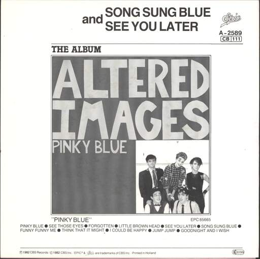 "Altered Images: Song Sung Blue / See You Later, 7"" Single (Vinyl)"